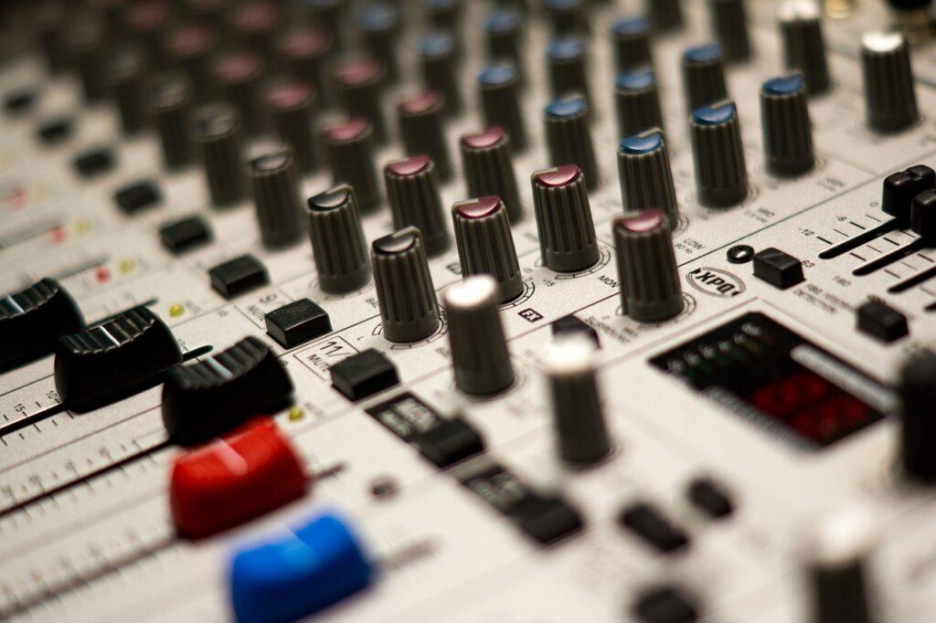 mixer, music, studio